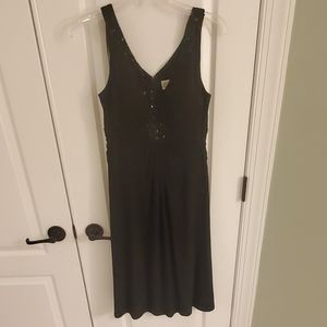 Black dress with jeweled front
